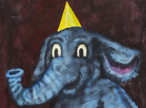 Original Art by Jerry Vile - The Elephant's Birthday