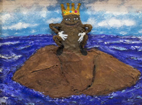 Original Art by Jerry Vile - King Shit of Turd Island