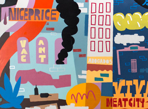 Original Art by Jesse Kassel - Viva Meat City