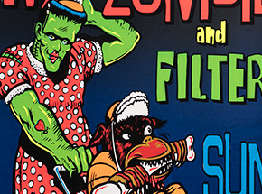Art Print by Jim Evans / Taz - White Zombie and Filter - Freedom Hall Civic Center - 1996