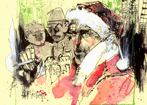 Original Art by Jim Mahfood - Bad Santa