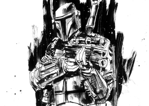 Original Art by Jim Mahfood - Boba Fett