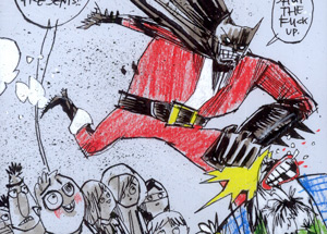 Original Art by Jim Mahfood - Dark Night Santa