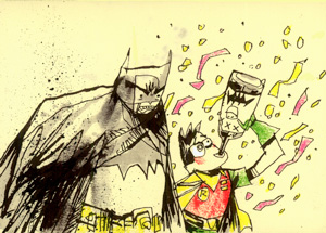 Original Art by Jim Mahfood - Dynamic Party Duo