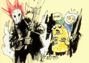 Original Art by Jim Mahfood - Friday Adventuretime 13th