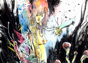 Original Art by Jim Mahfood - Mind Is On Fire