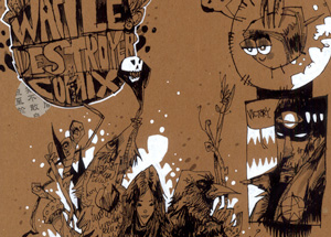 Original Art by Jim Mahfood - Waffle Destroyer Comix
