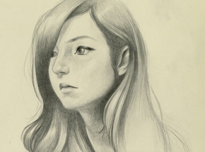 Original Art by Joanne Nam - Shady - Sketch 02