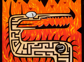 Original Art by Joe Vaux - Le Maze - Dragon - Original Painting