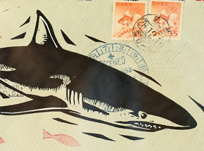 Original Art by John Fellows - Shark Mail 2