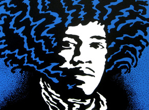 Original Art by John Van Hamersveld - Hendrix - Blue