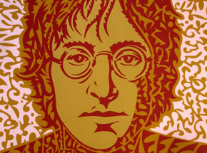 Art Print by John Van Hamersveld - John Lennon Portrait - Orange
