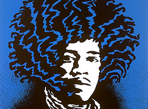 Art Print by John Van Hamersveld - The New Jimi Hendrix Silkscreens
