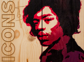Art by John Wentz - Icons - Jimi Hendrix Box Set