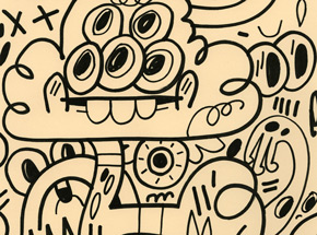 Original Art by Jon Burgerman - Fullbleed Eyes - Original Artwork