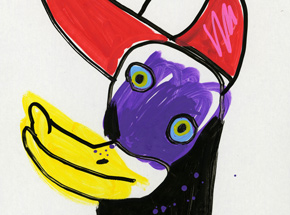 Original Art by Jon Burgerman - Get Ducky - Original Artwork