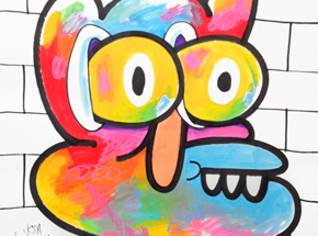Original Art by Jon Burgerman - Graffiti - Original Artwork