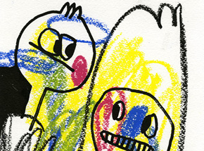 Original Art by Jon Burgerman - Crayons - Original Artwork