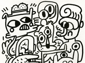 Original Art by Jon Burgerman - Friday Nights - Original Artwork