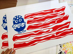Art by Jon Burgerman - United Tastes Of America - Limited Edition Prints