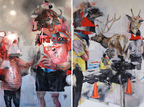 Art Print by Joram Roukes - Lost Angeles + Action On Spring - 2 Print Set