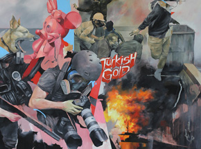 Art Print by Joram Roukes - Turkish Gold - Hand-Embellished Edition
