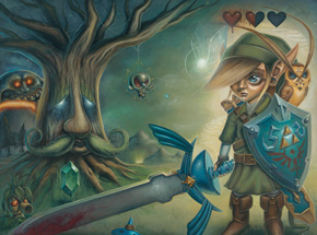 Art by Jordan Mendenhall - Link's Journey - Limited Edition Prints Framed