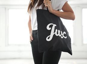 Art by 1xRUN Presents - Jux Script Logo - Tote Bag
