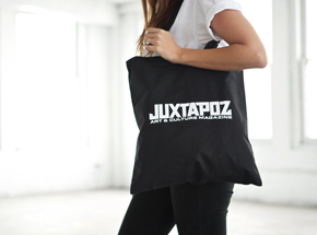 Art by 1xRUN Presents - Juxtapoz Logo - Tote Bag
