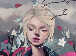 Original Art by Kelsey Beckett - The Rose Elf - Original Painting