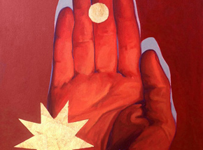 Original Art by Kevin Ledo - Red Hand Study