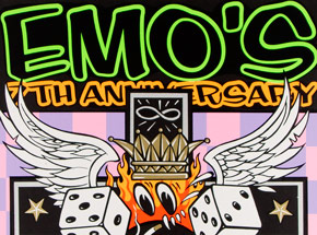 Art by Kozik - Emo's 7th Anniversary - L7, Craw Daddy - April 23 1997