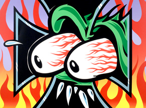 Art by Kozik - Flaming Eyeball