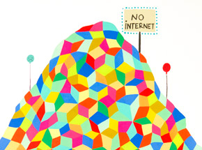 Art Print by Kristin Farr - No Internet - Hand-Embellished Edition