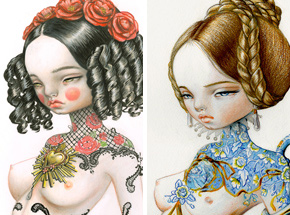 Art Print by Kukula - Sicille + Blue Jane - 2-Print Set