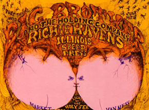 Art by Lee Conklin - Big Brother and the Holding Company, Sly and the Family Stone at Fillmore West - July 1968