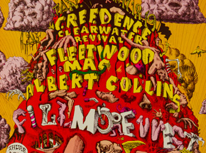 Art by Lee Conklin - Fleetwood Mac at Fillmore West - January 1969