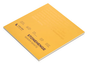 Book by Legion Paper - 8x8 Stonehenge Warm White Paper Pad