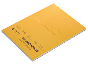 Book by Legion Paper - 9x12 Stonehenge Warm White Paper Pad