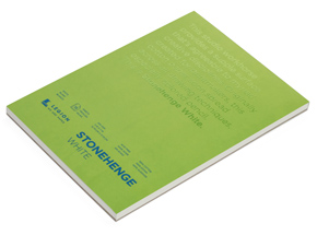 Book by Legion Paper - 5x7 Stonehenge White Paper Pad