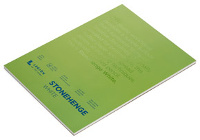 Book by Legion Paper - 9x12 Stonehenge White Paper Pad