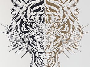 Art Collection by Lucky Olelo - Tiger Style