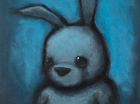 Original Art by Luke Chueh - Blue Bunny