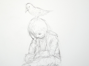 Original Art by Luke Chueh - The Boy & The Bird