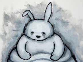 Original Art by Luke Chueh - Rabbit (Obese)