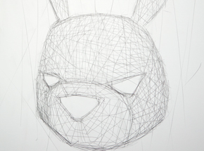 Original Art by Luke Chueh - Rabbit Texture Study