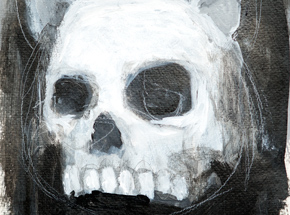Original Art by Luke Chueh - Skull - Character Study