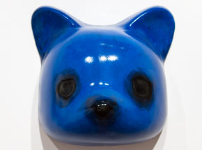 Art by Luke Chueh - Vaccuuform Bear Head - Blue