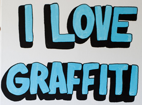 Original Art by Lush - I Love Graffiti - Original Painting