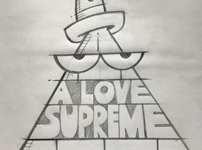 Original Art by Kevin Lyons - A Love Supreme - Sketch - Record Store Day